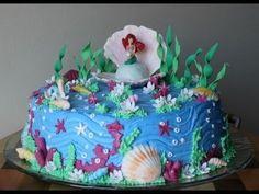 Come decorare la torta Sirenetta di Greedy in pasta di zucchero decorating Mermaid Cake sugar paste - YouTube