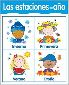 Creative Teaching Press Seasons Chart (Set of Spanish Teacher, Spanish Classroom, Teaching Spanish, Spanish Activities, Activities For Kids, Seasons Chart, Dual Language Classroom, Creative Teaching Press, Bilingual Education