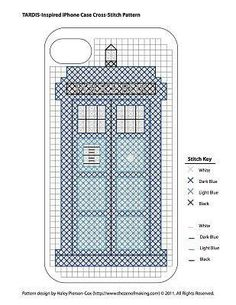 Dr. Who phone case cross stitch