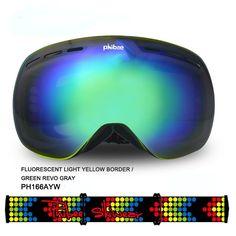 Detector Ski goggles double UV400 anti-fog big ski mask glasses skiing men women snow snowboard goggles