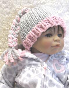 Knitting Pattern BRAIDED Baby Hat pdf Permission by ezcareknits, .00