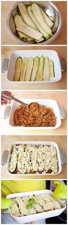 No-noodles zucchini lasagna