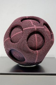 Ceramics, Gregory Roberts, Artist, Forget-Me-Knot, sculpted honeycomb ceramics, dye, glaze, multiple firings, 11 x 10 x 9 in
