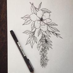 Magnolia and wisteria @lydiatattoos on instagram