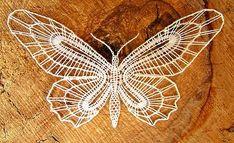 Motýlek Crochet Butterfly, Butterfly Art, Butterflies, Bobbin Lacemaking, Bobbin Lace Patterns, Lace Heart, Lace Jewelry, How To Make Necklaces, Needle Lace