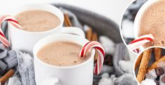 Peppermint Hot Cocoa Recipe | Blendtec (use maple syrup instead of brown sugar)