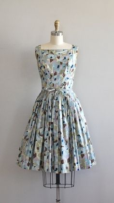 1950s dress / vintage 50s dress / Imaginary Maps by DearGolden Love everything in this shop