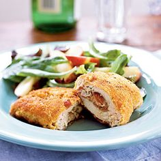 Prosciutto and Fontina-Stuffed Chicken Breasts Recipes < 100 Easy Chicken Recipes - Cooking Light Recipe Finder, Cocktails, Drinks, Baked Chicken Recipes, Turkey Recipes, Turkey Dishes, Breast Recipe, Pasta, Cooking Light
