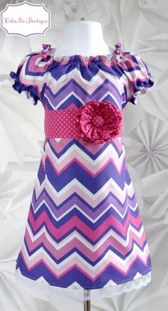 Peasant dress, Easter dress, Chevron dress, Spring dress, girls dress, toddler dress, dress-Girls sizes 3 months-6 years on Etsy, $45.00