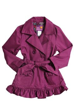 Purple Trench Coat  On sale for $18  Sizes 4-6x