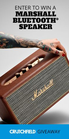 Win 1 of 8 Marshall Speakers from Crutchfield