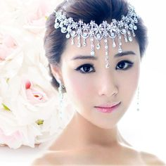 2016 hot wedding forehead jewelery rhinestone bandage on his head bridal headdress crown tiaras and hair accessories head