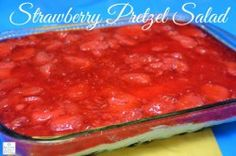 STRAWBERRY PRETZEL SALAD PERFECT SWEET SALTY COMBINATION