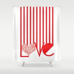 Love Typography Shower Curtain by Jaymee - $68.00