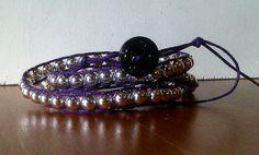 Purple Hemp Thread with Silverized Beads CHAN LUU by AnABazaar, $14.99