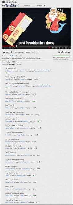 A chain of epic youtube comments!