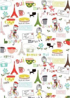 Cute Paris print