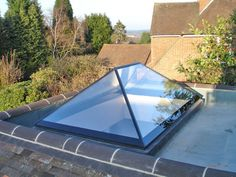 New All Glass roof lanterns - Installtion carried out in Woolton in Liverpool . The All Glass skylight comes with a self clean finish as standard. The Roof maker style roof lanternns comes in 7016 grey , Black as standard.