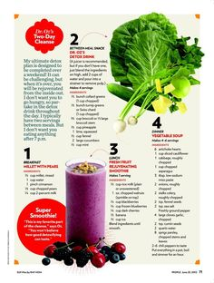 Dr. Oz 2 day cleanse -> Rejuvenating smoothie sounds amazing