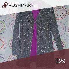 Polka dot coat purple interior kids xl Coat Cherokee Jackets & Coats Trench Coats
