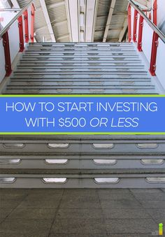 Investing with $500 or less can be a challenge, but it can be done. Here are brokers to consider and ways to start investing with 500 bucks or less. investing basics, how to invest #personalfinance