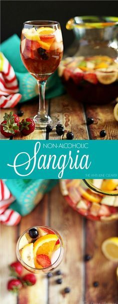 How to make a non-alcoholic Sangria mocktail. Perfect for pregnant women, kids' parties, or just a refreshing drink on a summer day. Made with citrus and fruit, this is a sure crowd pleaser.