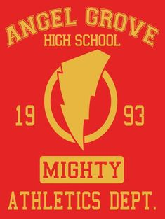 ANGEL GROVE HIGH SCHOOL T-Shirt $12 Power Rangers tee at Once Upon a Tee!