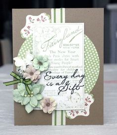 Card designed with Spring Darjeeling flowers by Petaloo and Little Darlings paper by G45!  Created by DT member Alice Carman