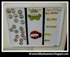 Morning magnet chart to use for attendance