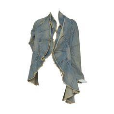 Junya Watanabe Comme Des Garcons Distressed Denim jacket  AD 2001  S at 1stdibs