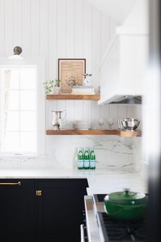 Love the timber shelves More ideas below: Small L Shaped Kitchen With Island Floor Plans Galley L Shaped Kitchen Layout Design Farmhouse L Shaped Kitchen With Peninsula Tiny L Shaped Kitchen Remodel Ideas L Shaped Kitchen With Pantry and Bar Small L Shaped Kitchens, L Shaped Kitchen Designs, U Shaped Kitchen, L Shaped Kitchen Cabinets, Kitchen Floor Plans, Kitchen Tiles, Kitchen Flooring, Kitchen Decor, Small Farmhouse Kitchen