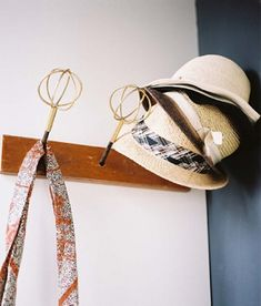 wisk hat rack-this would be cute on a hat tree for my classroom. Will have to make!