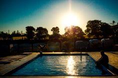 Kid relaxing in the pool