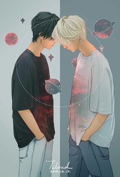 Yesung fanart by on pict Manga Art, Manga Anime, Anime Art, Aesthetic Anime, Aesthetic Art, Fanarts Anime, Anime Characters, Anime Lindo, Cute Gay Couples