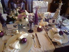 Purple Christmas Table