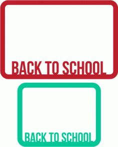 Silhouette Online Store - View Design #46850: back to school journaling card overlays