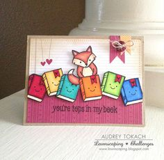 Lawnscaping Challenges: Lawn Fawn Party Animal Card by Audrey Tokach.