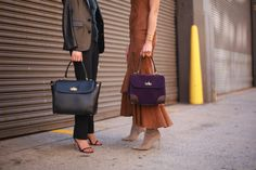 Sophisticated ladies: The Ralph Lauren Tiffin Bag gets noticed at New York Fashion Week