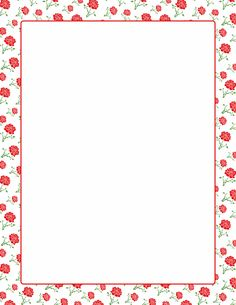 A page border featuring roses. Free downloads at http://pageborders.org/download/rose-border/
