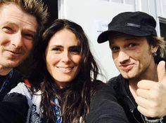 Backstage Tobi with Sharon Den Adel & Thomas Moser of Rockantenne
