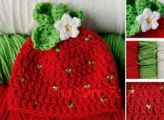 Hey, I found this really awesome Etsy listing at http://www.etsy.com/listing/126309545/crochet-strawberry-hat-newborn-infant