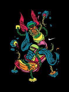 Nike Sportwear T-shirts by VanilaBCN , via Behance
