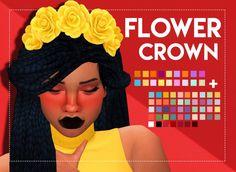 Simsworkshop: Flower Crown 3.0 by weepingsimmer • Sims 4 Downloads