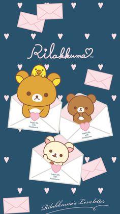 Sanrio Wallpaper, Kawaii Wallpaper, Cute Kawaii Drawings, Kawaii Cute, Rilakkuma, Cellphone Wallpaper, Iphone Wallpaper, Rilakuma Wallpapers, Pusheen Cute