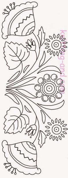 Lovely pattern #Embroidery Poppy Loves Pinterest
