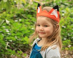 Kids Fox Tail & Ears Adult's Fox costume Red by Whimsywerks