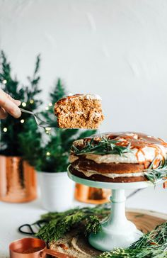Gingerbread Layer Cake with Espresso Cardamom Buttercream