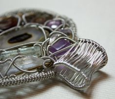 Wire Wrapped Pendant by LostBoysRagz on Etsy, $145.00