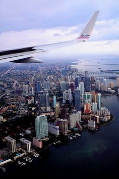 Miami, Florida.....<3 this view of Miami when you're coming in from the east~~ it's awesome!!!  Miami is beautiful from above!!