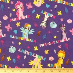 My Little Pony Applejack Rainbow Dash 100% Cotton Craft Fabric